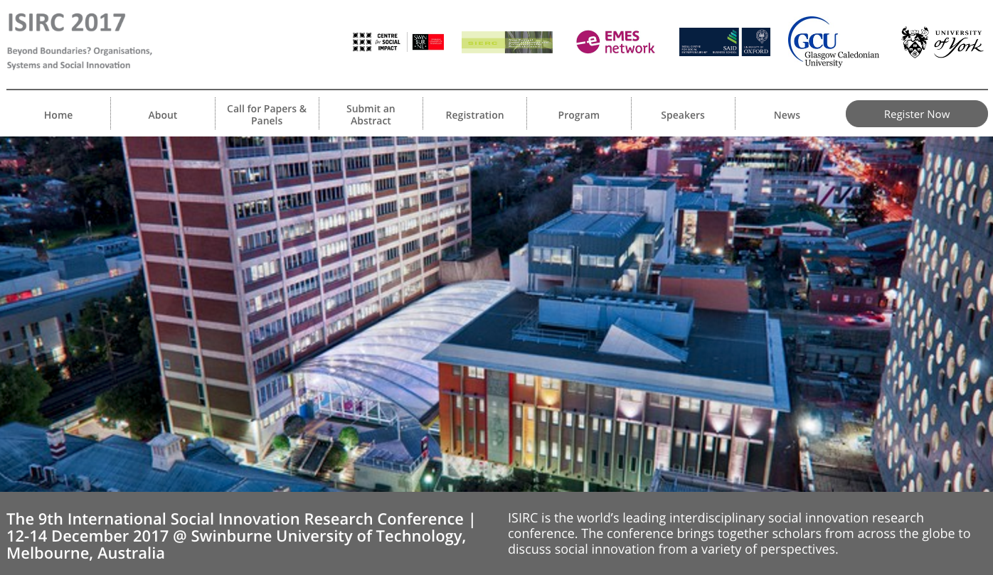 EMES will be one of the hosts of the next ISIRC 2017 in Melbourne (Australia)