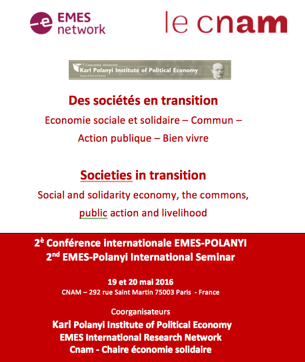 The programme for the 2nd EMES-Polanyi Seminar is now available
