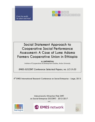 Social Statement Approach to Cooperative Social Performance Assessment: A Case of Lume Adama Farmers Cooperative Union in Ethiopia
