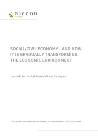 SOCIAL/CIVIL ECONOMY - AND HOW IT IS GRADUALLY TRANSFORMING THE ECONOMIC ENVIRONMENT