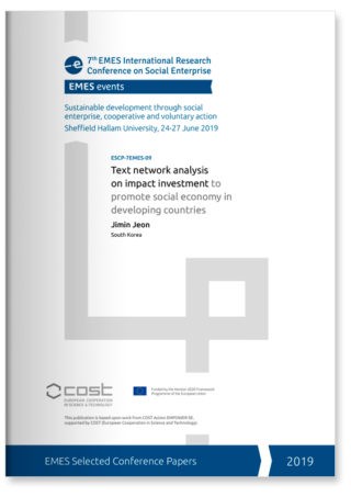 Text network analysis on impact investment to promote social economy in developing countries