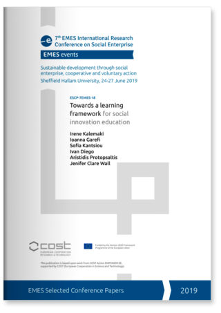Towards a learning framework for social innovation education