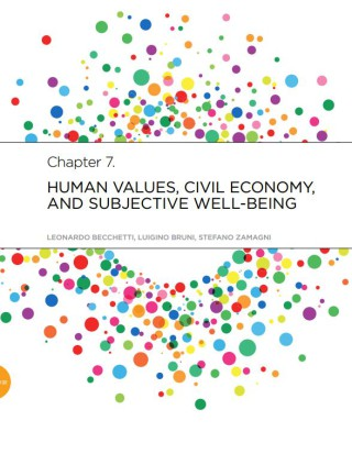 Human-values, Civil Economy, and subjective well-being