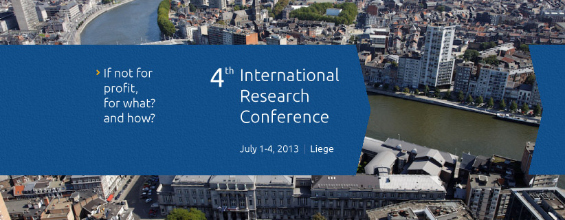 4<sup>th</sup> EMES International Research Conference on Social Enterprise