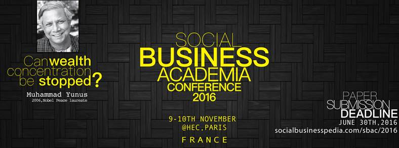 EXTENDED DEADLINE (July 15th) - Call for papers for the Social Business Academia Conference 2016 (SBAC2016)