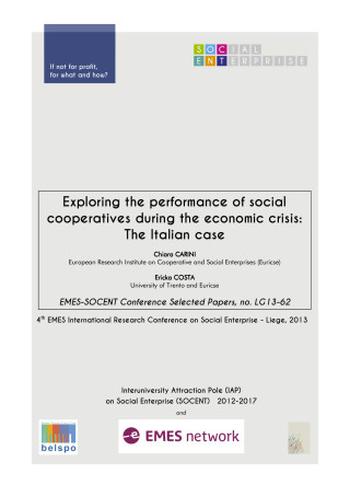 Exploring the performance of social cooperatives during the economic crisis: The Italian case