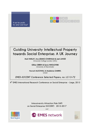 Guiding University Intellectual Property towards Social Enterprise: A UK Journey