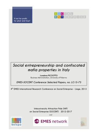 Social entrepreneurship and confiscated mafia properties in Italy