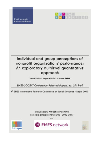 Individual and group perceptions of nonprofit organizations' performance: An exploratory multilevel quantitative approach