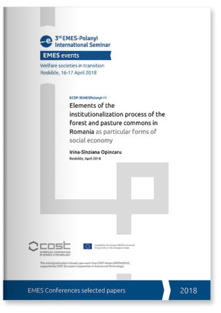 Elements of the institutionalization process of the forest and pasture commons in Romania as particular forms of social economy