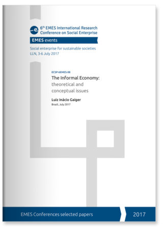 The Informal Economy: theoretical and conceptual issues