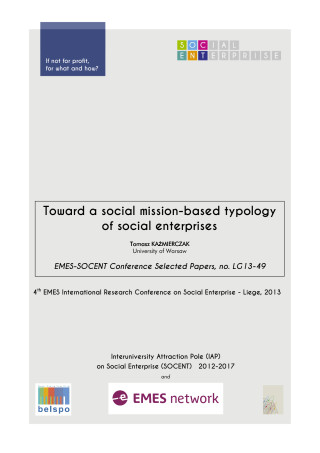 Toward a social mission-based typology of social enterprises