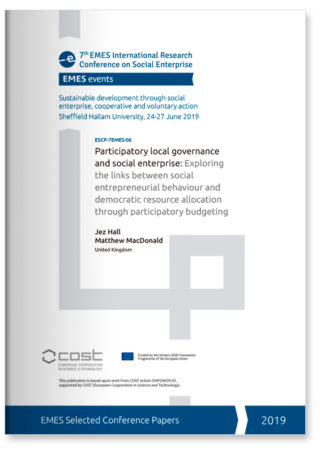 Participatory local governance and social enterprise: exploring the links between social entrepreneurial behaviour and democratic resource allocation through participatory budgeting