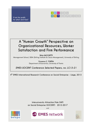 "A ""Human Growth"" Perspective on Organizational Resources, Worker Satisfaction and Firm Performance"
