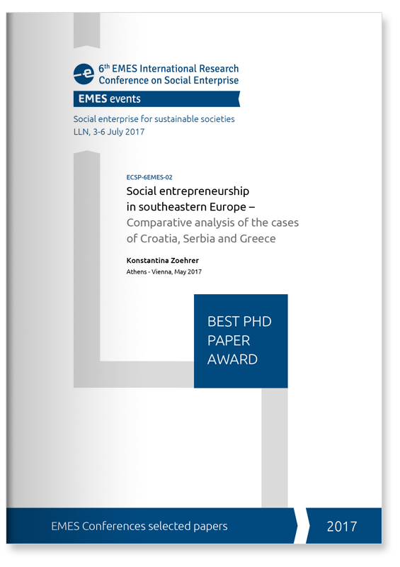 EMES Best PhD Paper 2017 cover