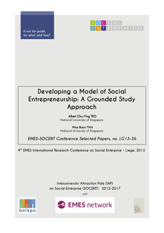 Developing a Model of Social Entrepreneurship: A Grounded Study Approach